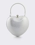 Εικόνα από Γυναικείοι φάκελοι clutch σε σχήμα καρδιά Ασημί
