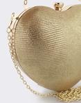 Εικόνα από Γυναικείοι φάκελοι clutch σε σχήμα καρδιά Χρυσό