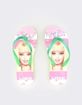 Εικόνα από Παιδικές σαγιονάρες με print Barbie Πράσινο