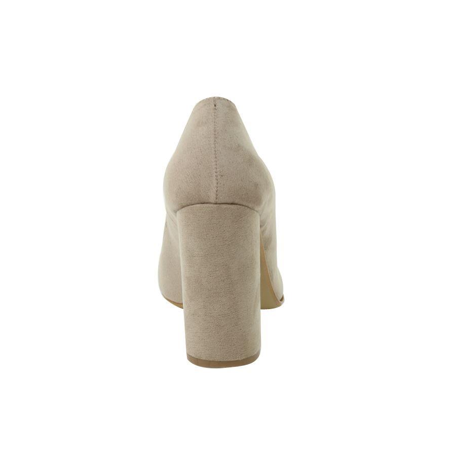 Εικόνα από Γυναικείες γόβες με χοντρό τακούνι Μπεζ