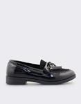 Εικόνα από Γυναικεία loafers με κρόσσια Μαύρο