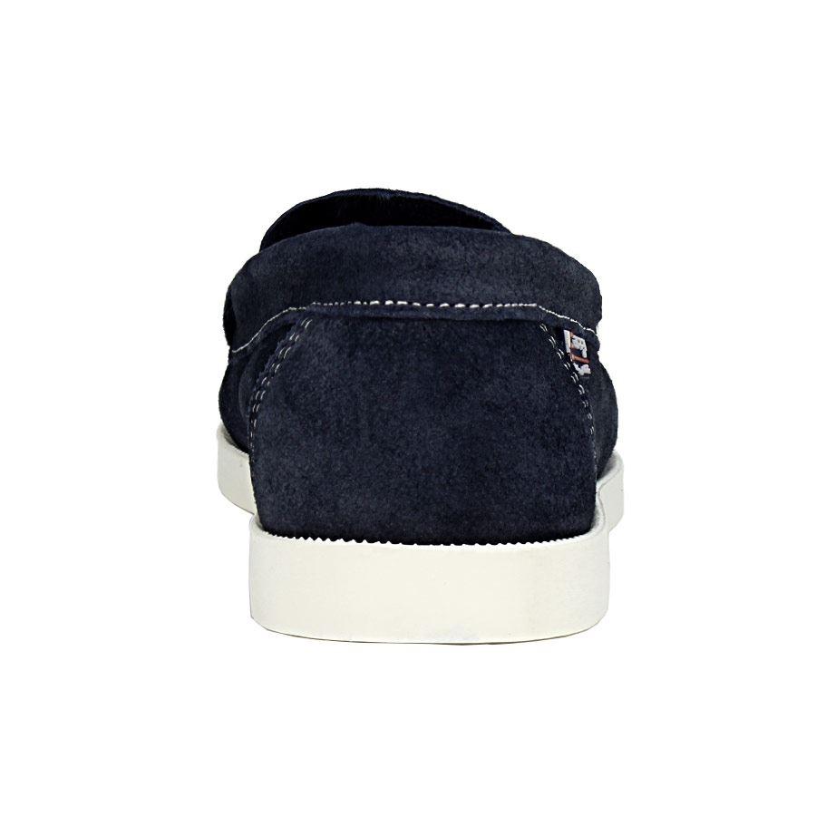 Εικόνα από Γυναικεία loafers δερμάτινα με διακοσμητικό λουράκι Μπλε