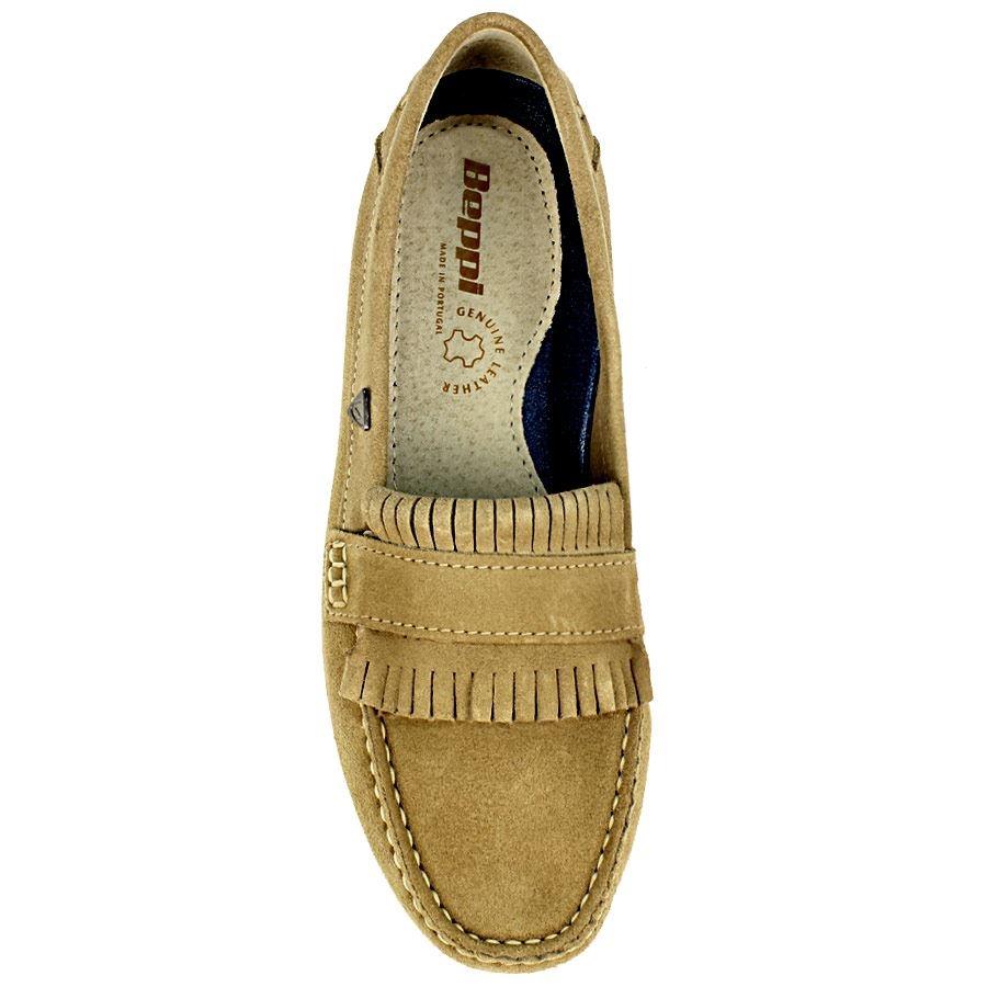 Εικόνα από Δερμάτινα loafer με κροσσάκια Πούρο