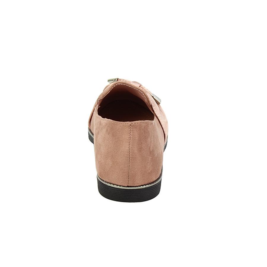 Εικόνα από Γυναικεία loafers με πλαϊνό φιόγκο Ροζ