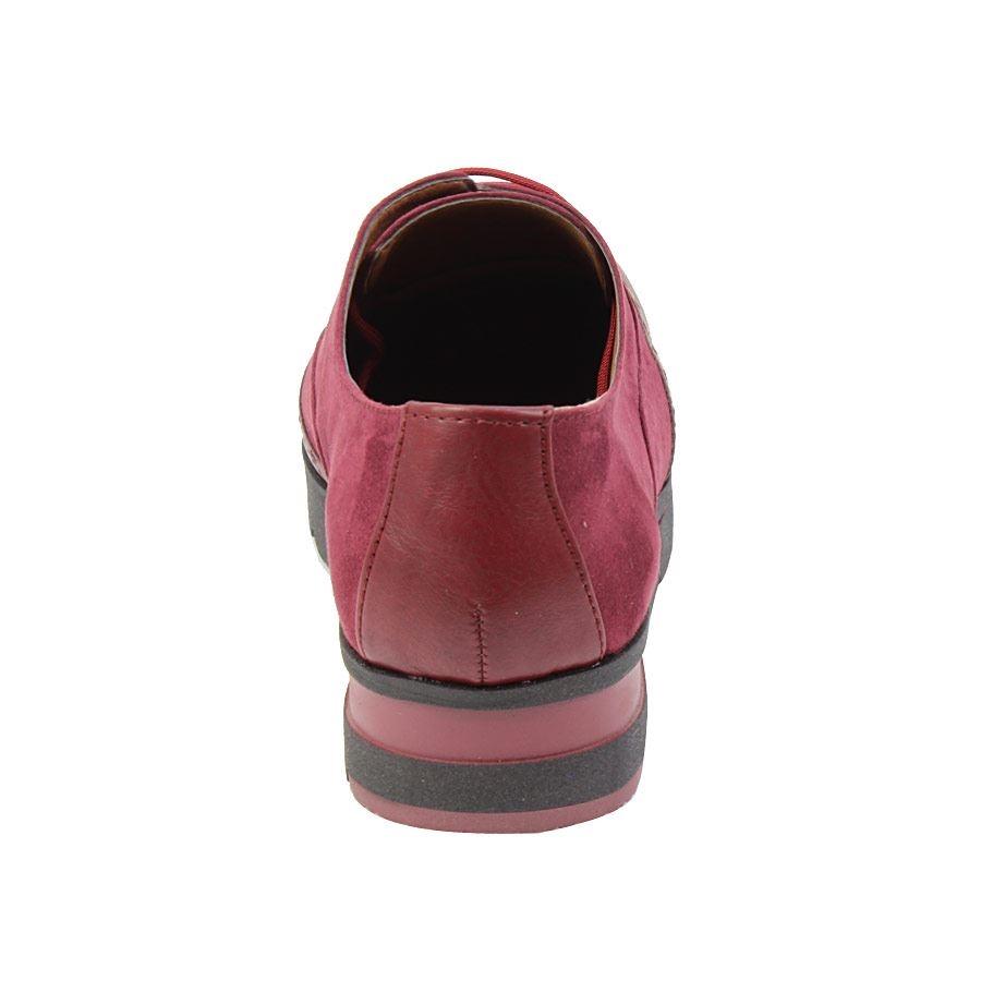 Εικόνα από Γυναικεία loafers δίψιδα με δίχρωμη σόλα Μπορντώ