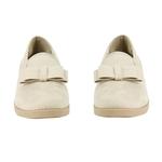 Εικόνα από Γυναικεία loafers μονόχρωμα με φιογκάκι Μπεζ