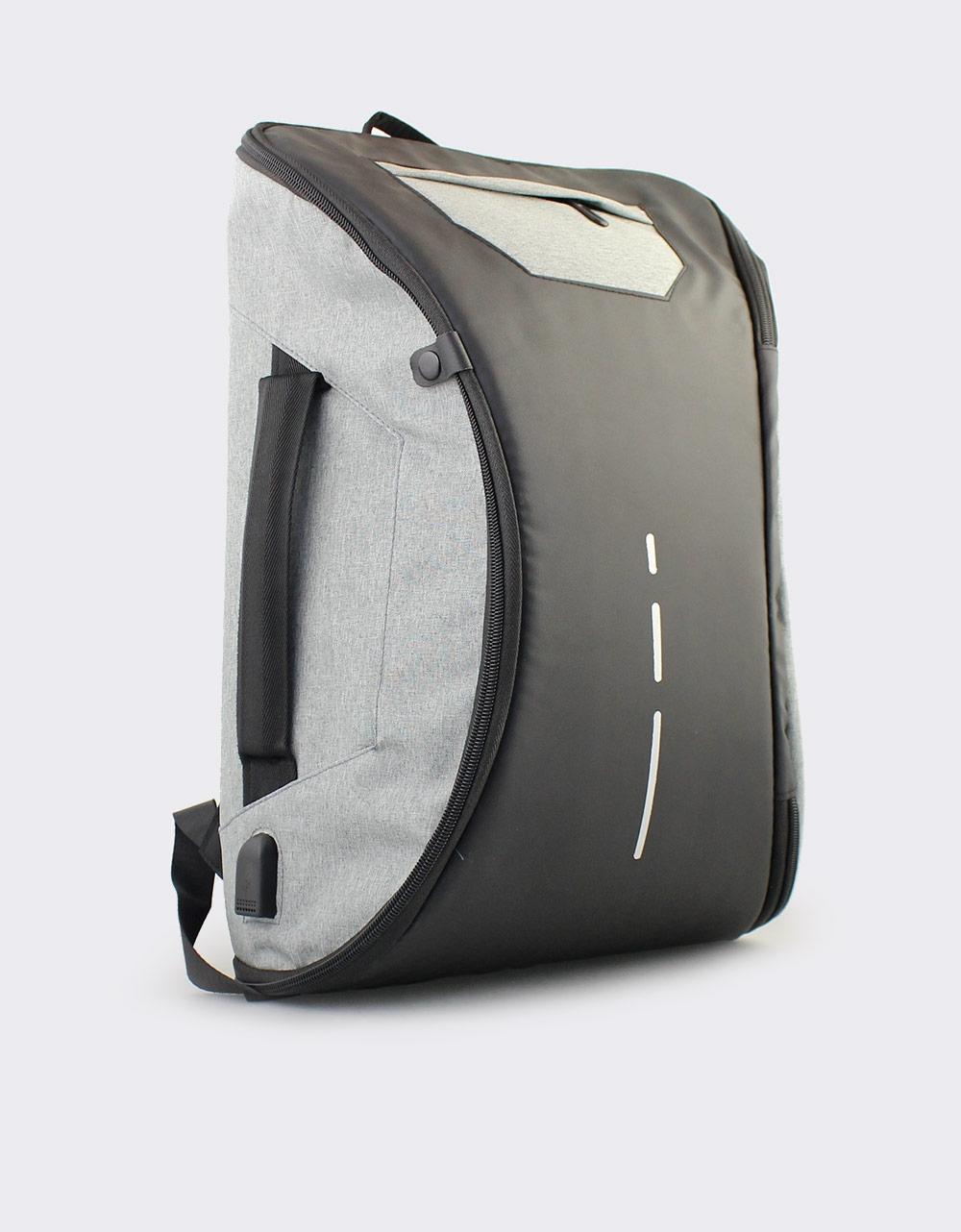 Εικόνα από Ανδρικά σακίδια πλάτης με διχρωμία Γκρι