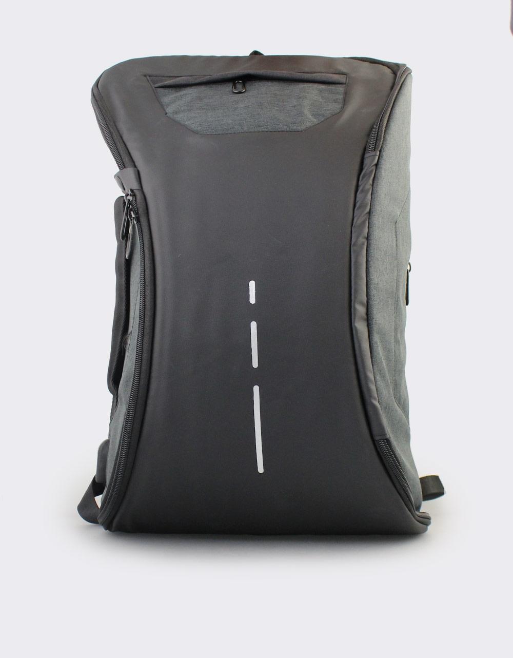 Εικόνα από Ανδρικά σακίδια πλάτης με διχρωμία Μαύρο