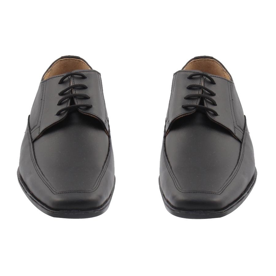 Εικόνα από Ανδρικά δερμάτινα loafers σε τετράγωνη γραμμή Μαύρο
