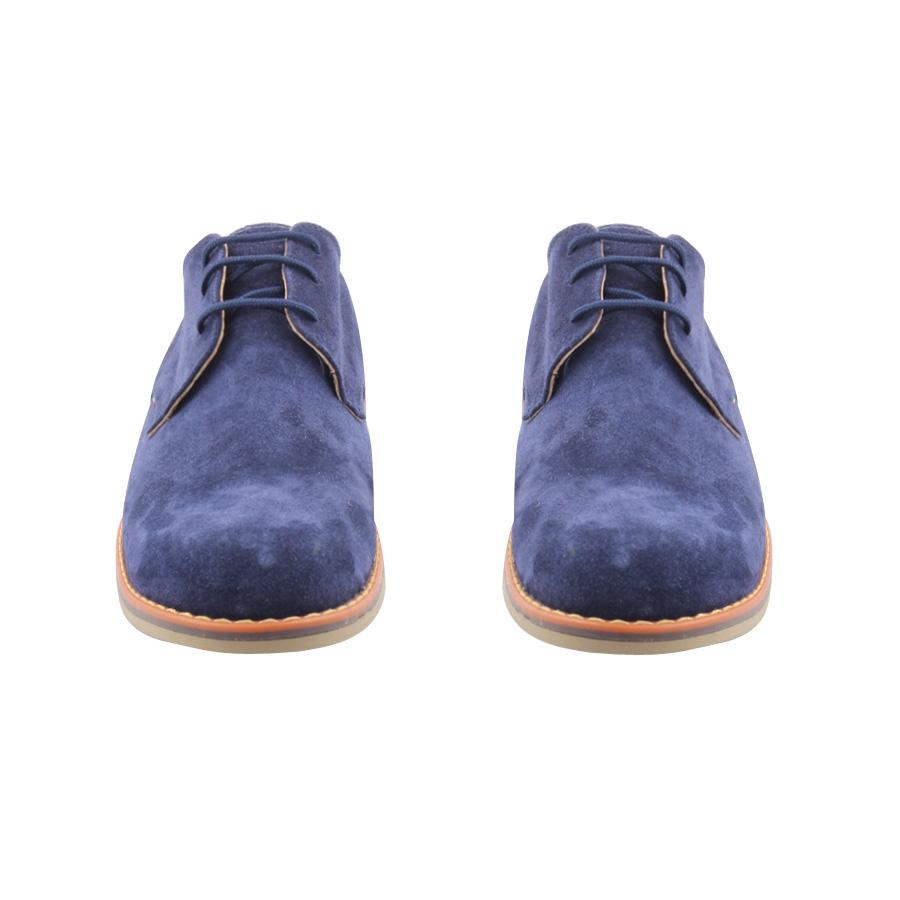 Εικόνα από Ανδρικά δερμάτινα loafers καστόρινα Μπλε