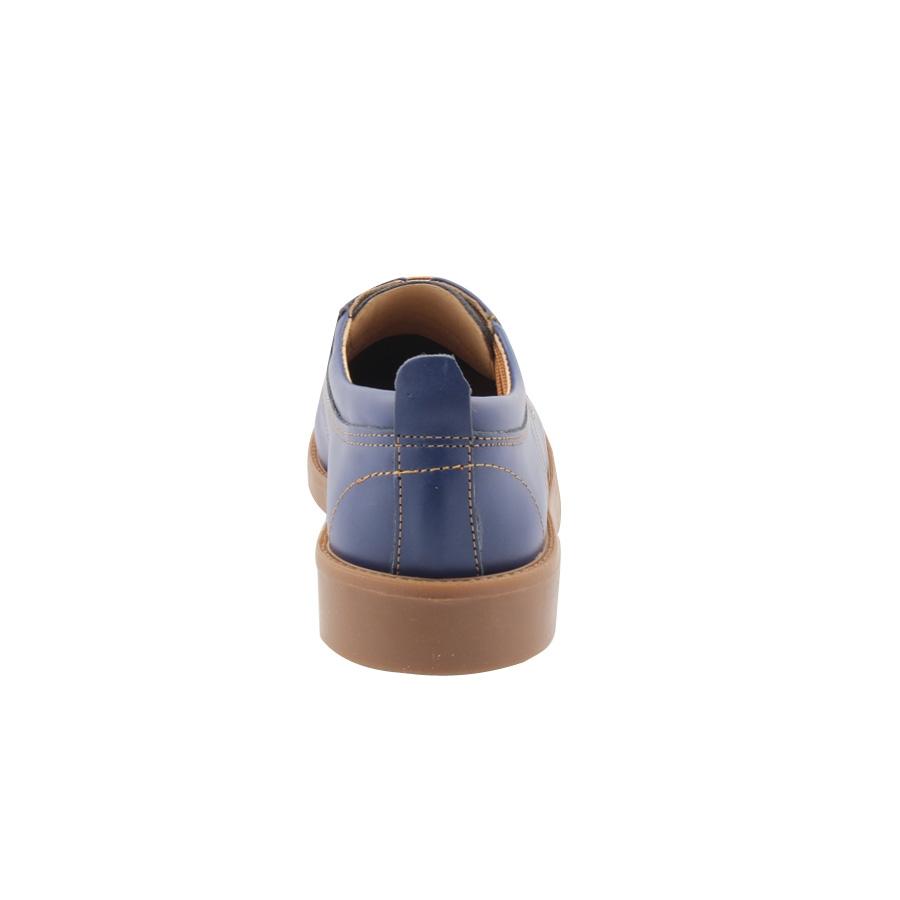 Εικόνα από Ανδρικά δερμάτινα loafers με καφέ κορδόνια Μπλε