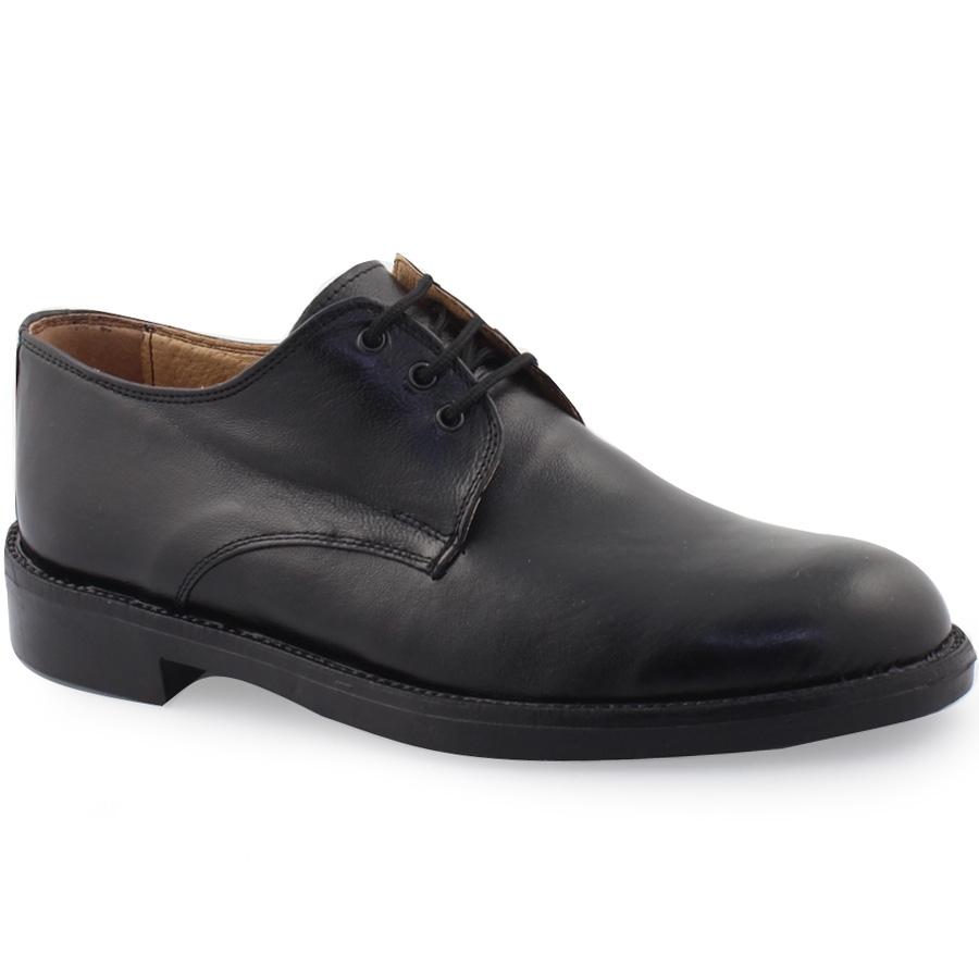 Εικόνα από Ανδρικά δερμάτινα loafers μονόχρωμα Μαύρο