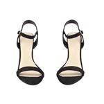 Εικόνα από Γυναικεία πέδιλα με χοντρό τακούνι από strass Μαύρο