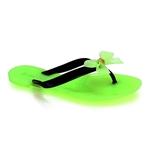 Εικόνα από Γυναικείες σαγιονάρες με φιόγκο Πράσινο