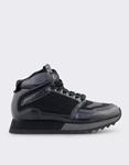 Εικόνα από Ανδρικά sneakers με δίχρωμη σόλα Μαύρο