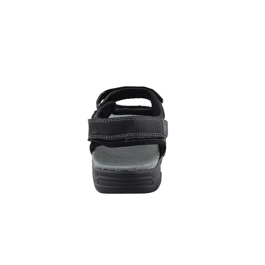 Εικόνα από Ανδρικά πέδιλα με περφορέ σχέδιο Μαύρο