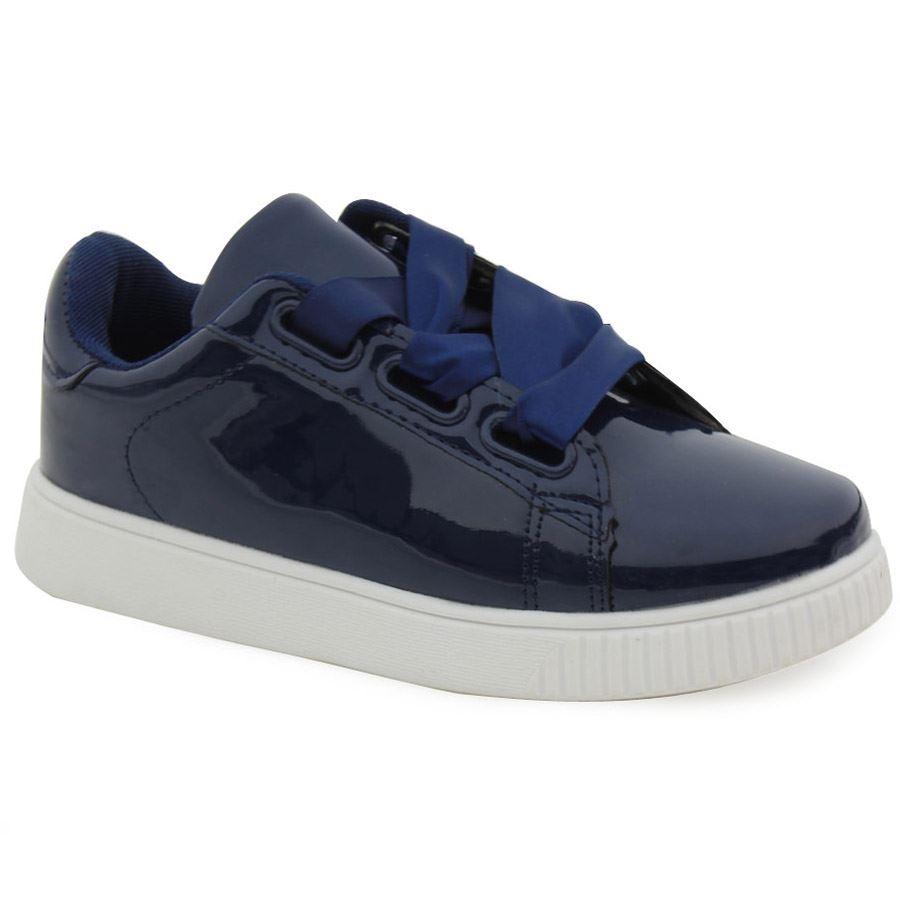 Εικόνα από Παιδικά sneakers με σατέν κορδόνια Μπλε