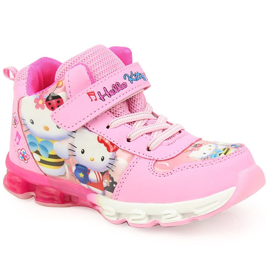 Εικόνα από Παιδικά αθλητικά Hello Kitty με φωτάκια Ροζ