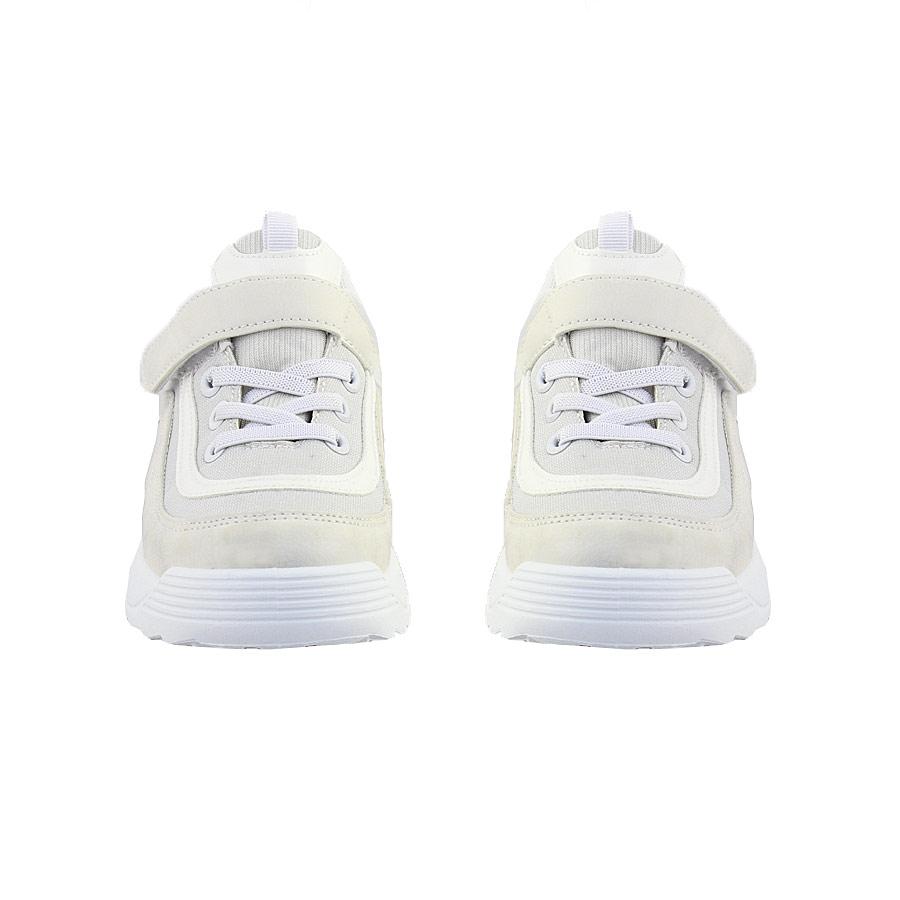 Εικόνα από Παιδικά sneakers με χρυσόσκονη και ελαστικά κορδόνια Λευκό