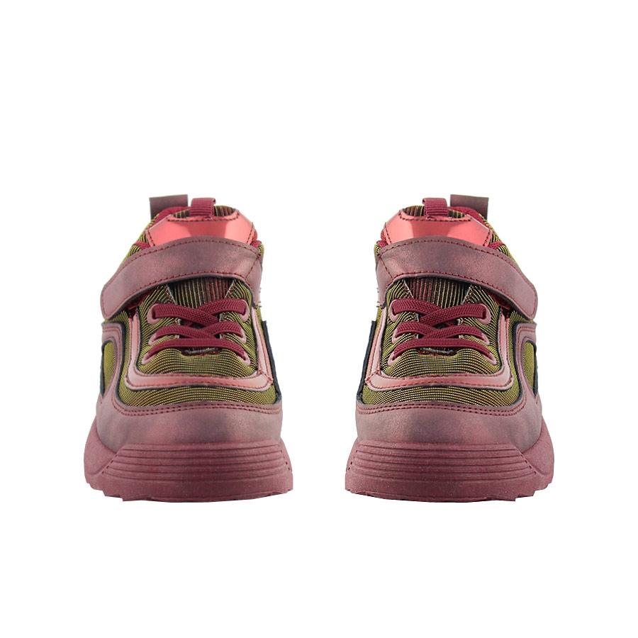 Εικόνα από Παιδικά sneakers με χρυσόσκονη και ελαστικά κορδόνια Μπορντώ