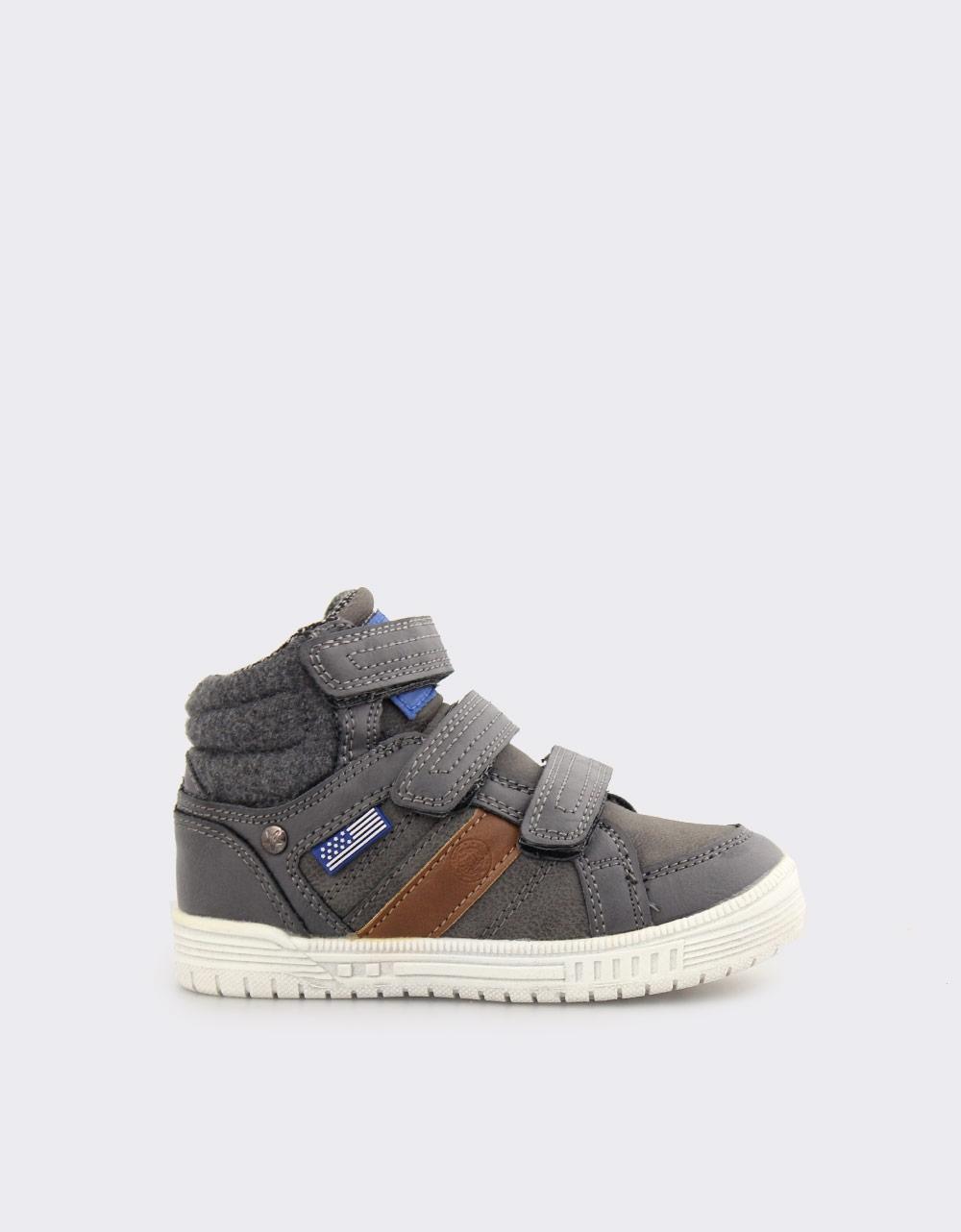 Εικόνα από Παιδικά sneakers με αυτοκόλλητα Γκρι