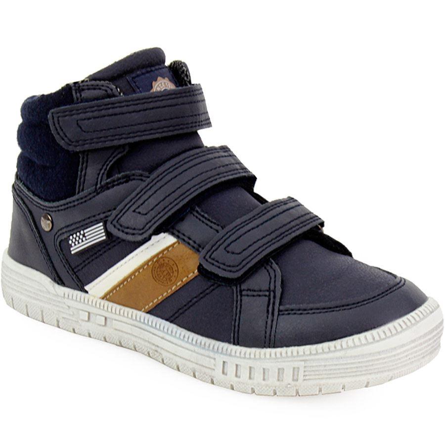 Εικόνα από Παιδικά sneakers με αυτοκόλλητα Μπλε