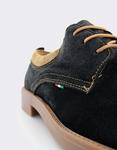 Εικόνα από Ανδρικά δερμάτινα loafers καστόρινα Μαύρο