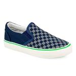 Εικόνα από Παιδικά sneakers με καρό σχέδιο Μπλε