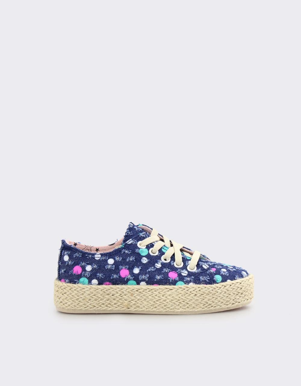 Εικόνα από Παιδικά sneakers με πολύχρωμους κύκλους Navy
