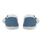 Εικόνα από Γυναικείες παντόφλες με pom pon Μπλε