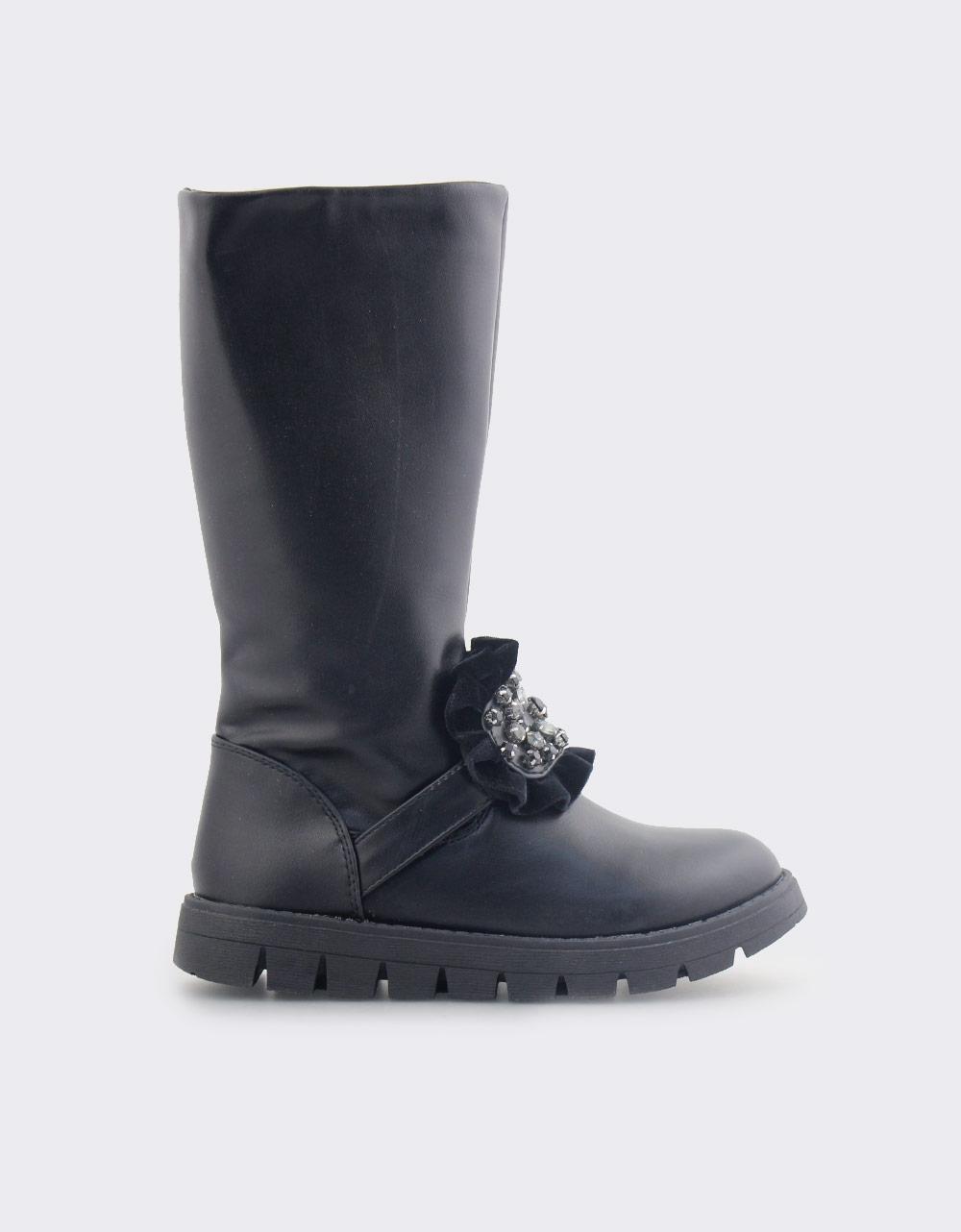 Εικόνα από Παιδικές μπότες με διακοσμητικό Μαύρο