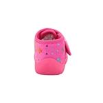 Εικόνα από Παιδικές παντόφλες με χρωματιστά αστεράκια Φούξια
