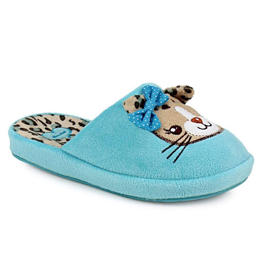 Εικόνα από Παιδικές παντόφλες με διακοσμητικό γατάκι Σιέλ