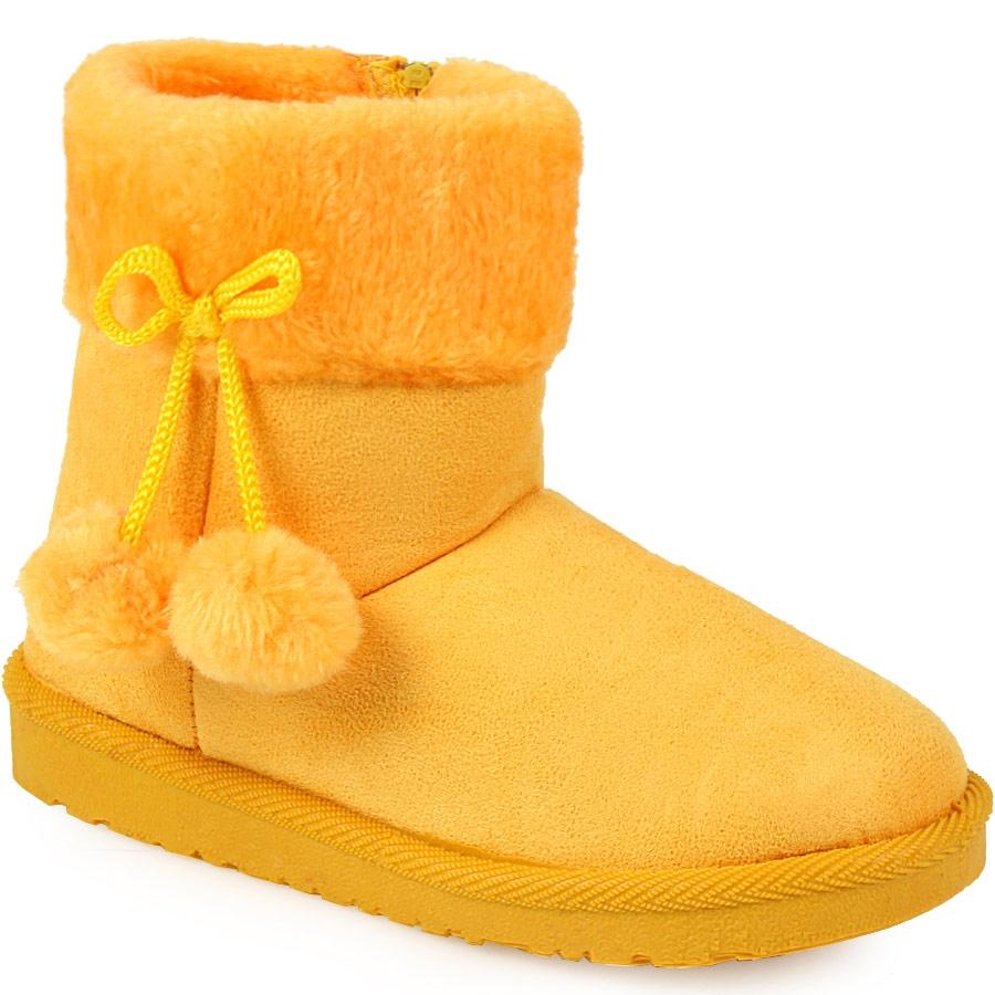 Εικόνα από Παιδικά μποτάκια με διακοσμητικά pon pon Κίτρινο