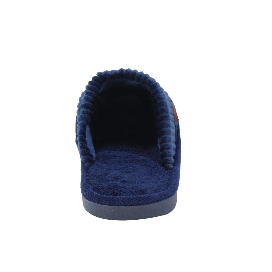 Εικόνα από Ανδρικές παντόφλες με κοτλέ σχέδιο Μπλε