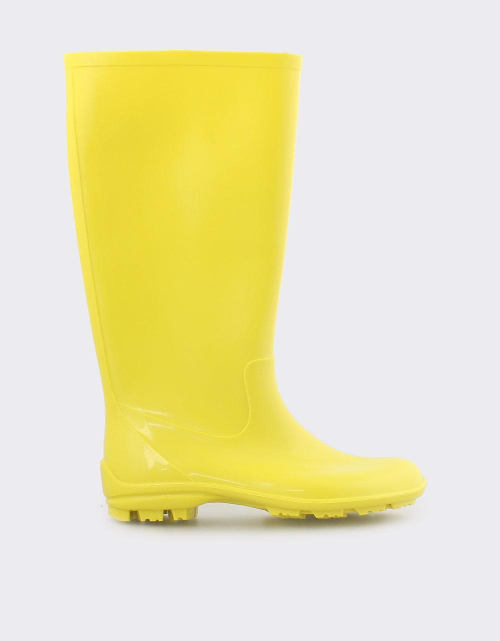 Εικόνα από Γυναικείες γαλότσες μονόχρωμες Κίτρινο