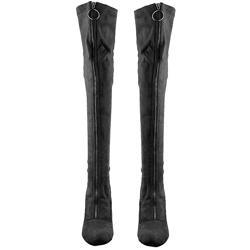 Εικόνα από Γυναικείες μπότες με φερμουάρ Μαύρο