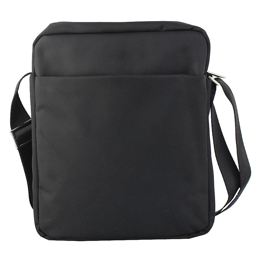 Εικόνα από Ανδρικές τσάντες ώμου με εξωτερικό φερμουάρ Μαύρο
