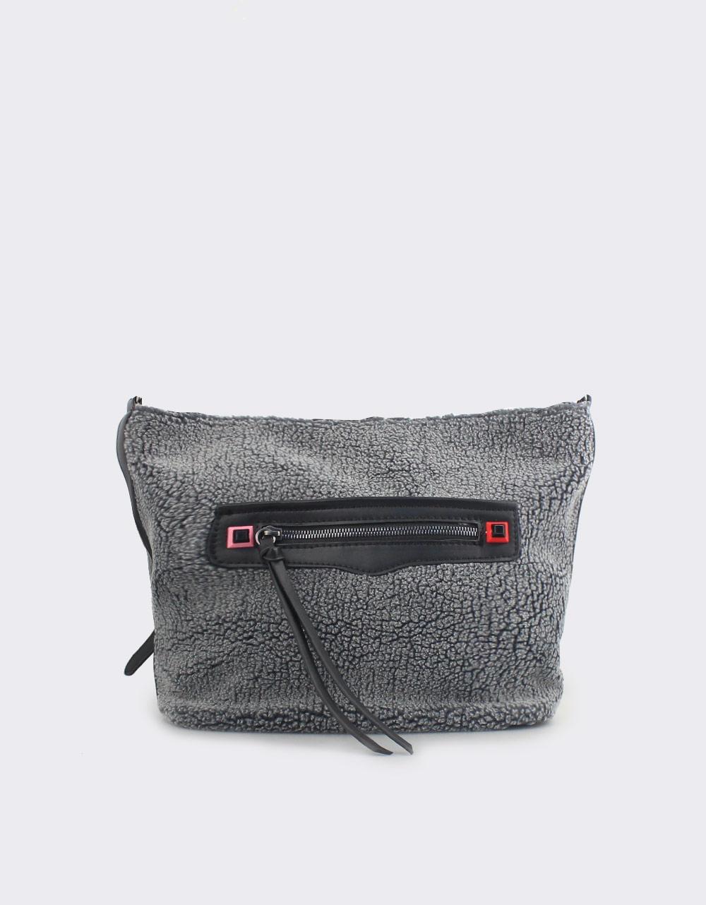 Εικόνα από Γυναικείες τσάντες ώμου με εξωτερική θήκη Γκρι