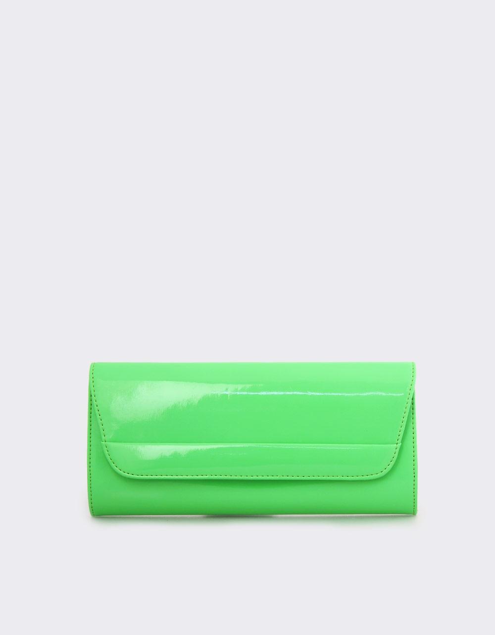 Εικόνα από Γυναικείοι φάκελοι μονόχρωμοι με αλυσίδα Πράσινο