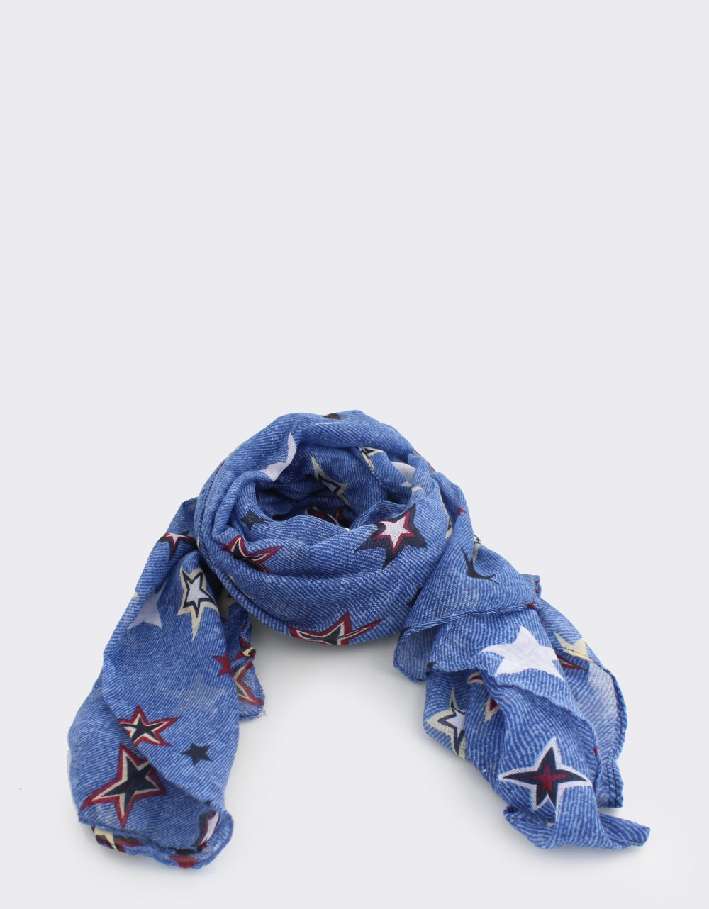 Εικόνα από Γυναικείες πασμίνες με αστεράκια Μπλε
