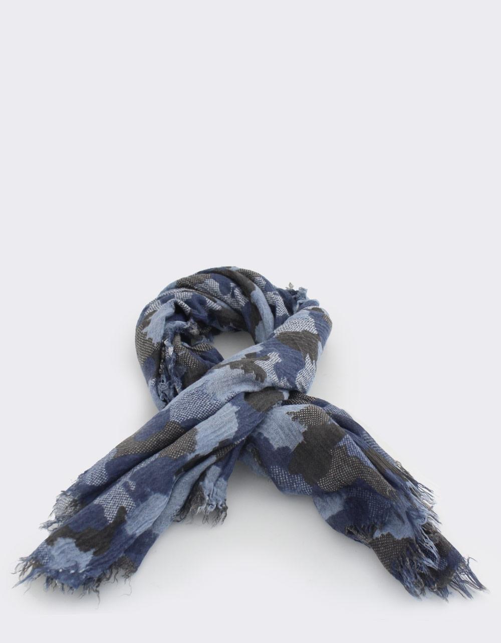 Εικόνα από Γυναικεία φουλάρια με σχέδιο παραλλαγής Μπλε
