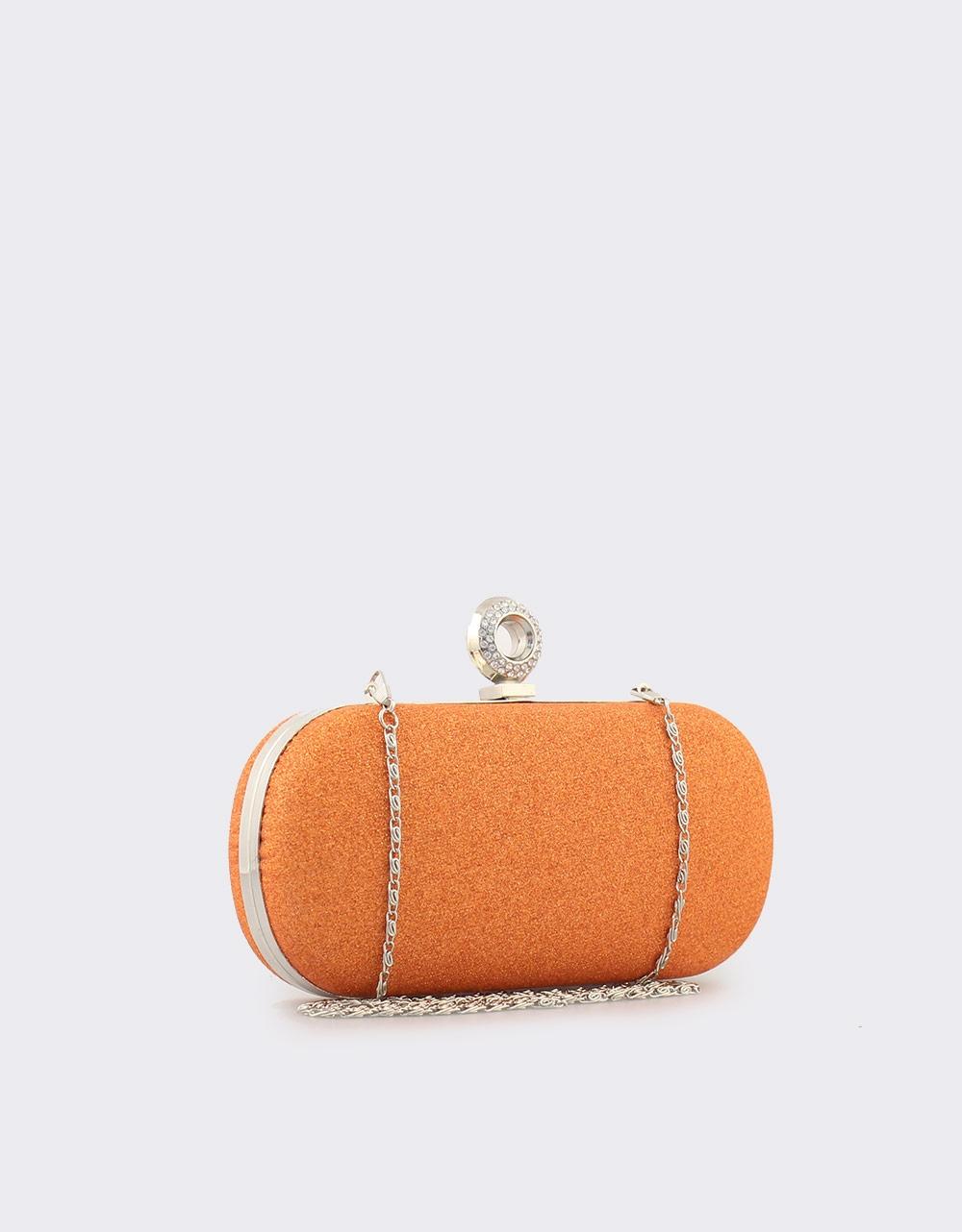 Εικόνα από Γυναικείοι φάκελοι clutch με glitter Πορτοκαλί
