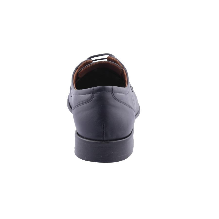 Εικόνα από Ανδρικά δερμάτινα loafers με ανάγλυφο σχέδιο Μαύρο