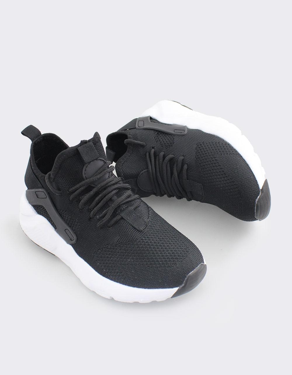 Εικόνα από Γυναικεία sneakers με λάστιχο Μαύρο