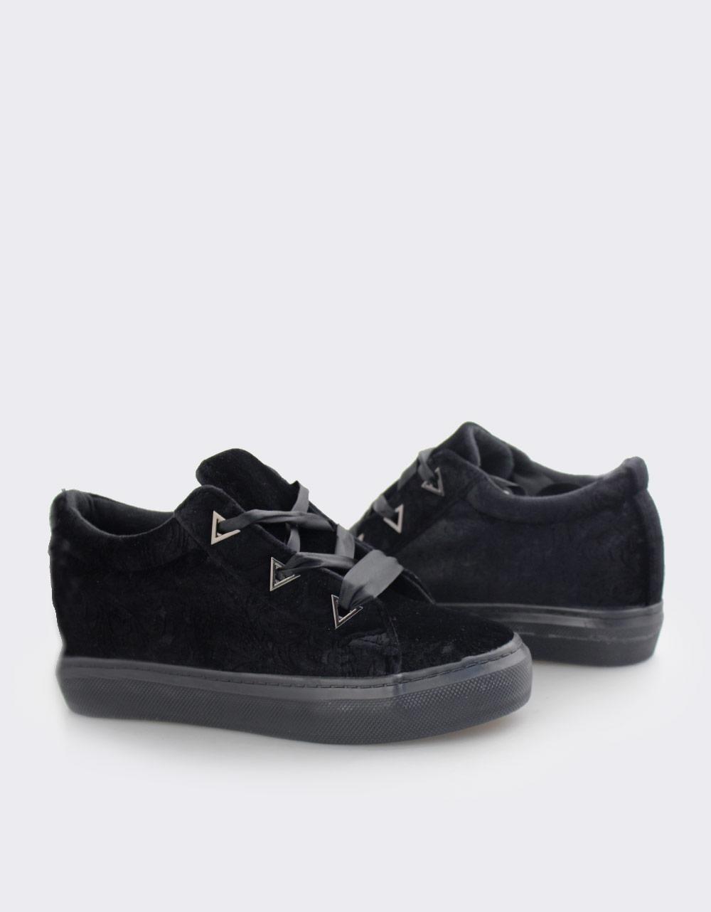 Εικόνα από Γυναικεία sneakers με ανάγλυφο σχέδιο Μαύρο