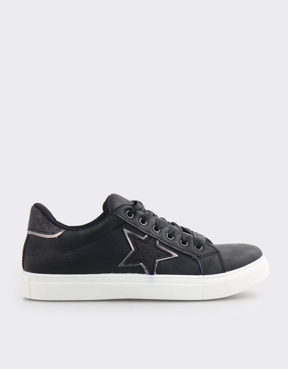 Εικόνα από Γυναικεία sneakers με διακοσμητικό αστέρι Μαύρο