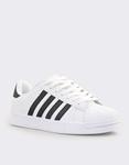 Εικόνα από Ανδρικά sneakers με ρίγες Λευκό/Μαύρο