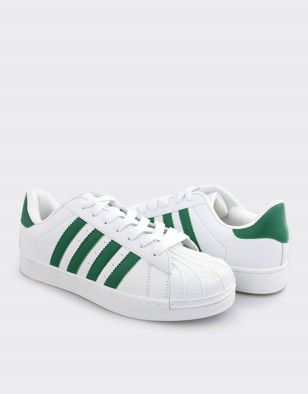 Εικόνα από Ανδρικά sneakers με ρίγες Λευκό/Πράσινο