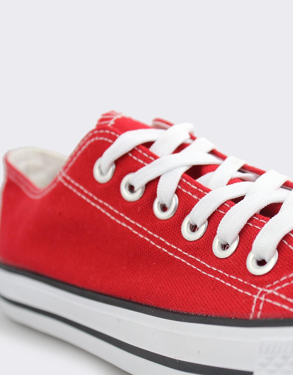 Εικόνα από Ανδρικά sneakers με κορδόνια Κόκκινο